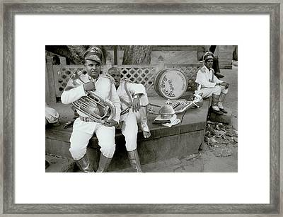 The Street Musicians Framed Print by Shaun Higson