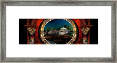 Framed Print featuring the photograph The Street On The River by Gunter Nezhoda