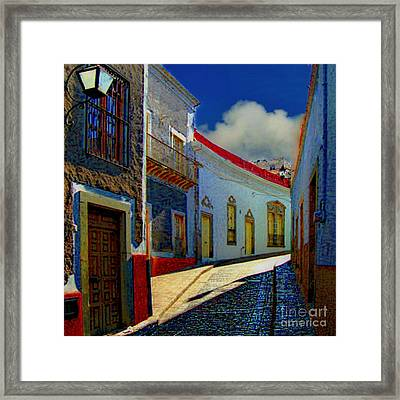 The Street To Diego Rivera's Parents House Framed Print