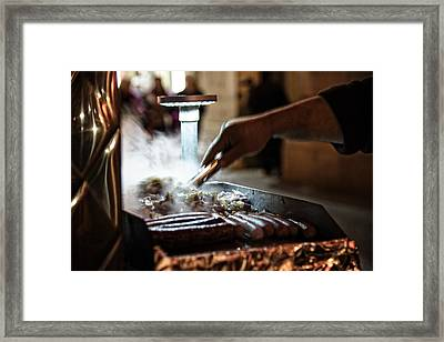 The Street Vendor Framed Print
