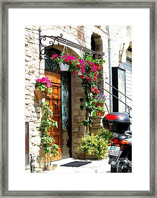 The Streets Of Assisi 1 Framed Print by Theresa Ramos-DuVon