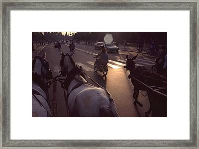 The Streets Of Casablanca Framed Print