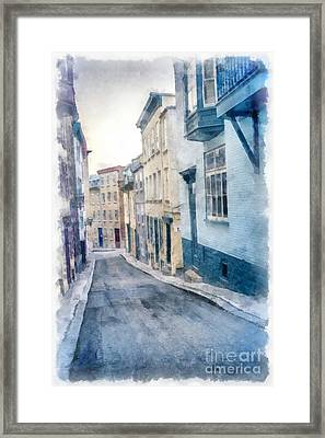 The Streets Of Old Quebec City Framed Print by Edward Fielding