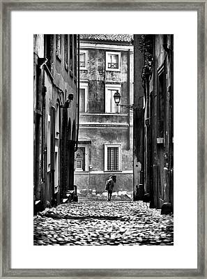 The Streets Of Roma Framed Print by John Rizzuto