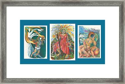 The Strength Tryptic Framed Print
