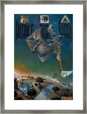 The Strife Of Wanderlust In A Dream Framed Print by Patrick Anthony Pierson