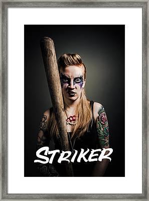 The Striker Of Team Violence Framed Print by Kyle James-Patrick
