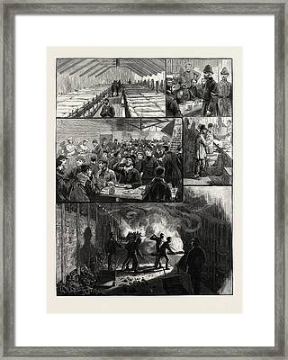 The Strikes At The South Metropolitan Gas Companys Works Framed Print