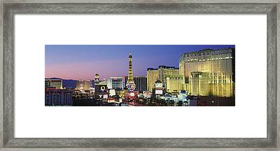 The Strip Dusk Las Vegas Nv Usa Framed Print