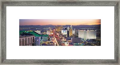 The Strip Las Vegas Nv Usa Framed Print by Panoramic Images