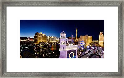 the Strip Las Vegas Framed Print