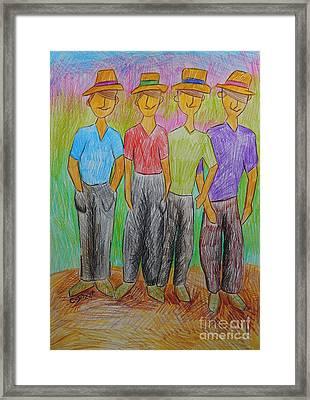 The Strollers Framed Print by Caroline Street
