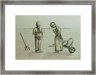 The Struggle Framed Print by Jeff  Blevins