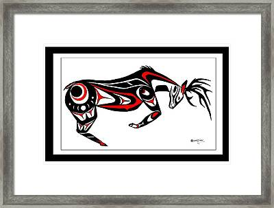 The Stud Buck Framed Print by Speakthunder Berry