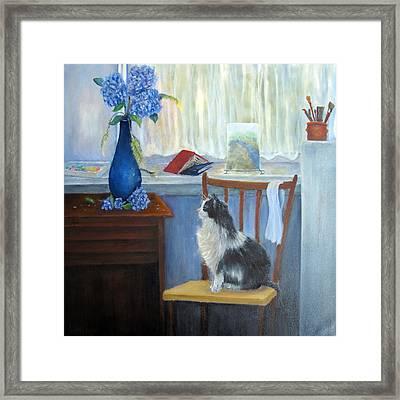 The Studio Cat Framed Print by Loretta Luglio