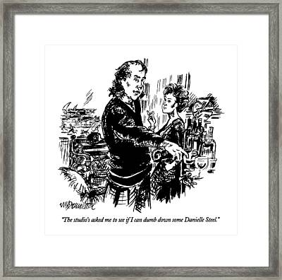The Studio's Asked Me To See If I Can Dumb Framed Print by William Hamilton