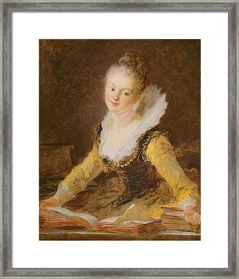 The Study, Or The Song Framed Print by Jean-Honore Fragonard