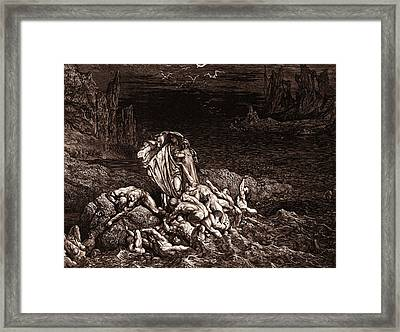 The Stygian Lake In The Fifth Circle Of Hell Framed Print