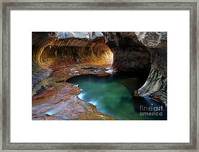 The Subway Sacred Light Framed Print by Bob Christopher