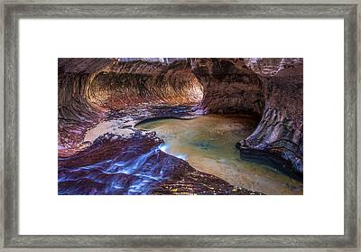 The Subway Zion Utah Framed Print