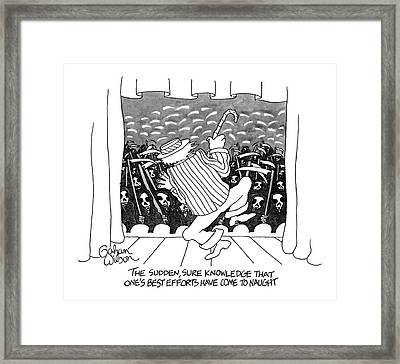 The Sudden, Sure Knowledge That One's Best Framed Print by Gahan Wilson