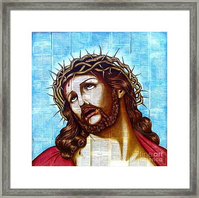The Suffering Christ Framed Print by Joseph Sonday