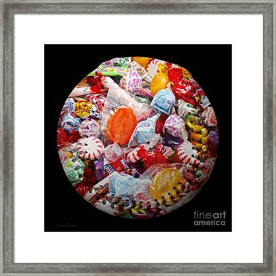 The Sugar Rush Baseball Square Framed Print by Andee Design