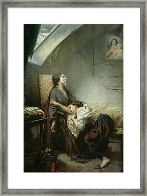 The Suicide Framed Print by Octave Tassaert