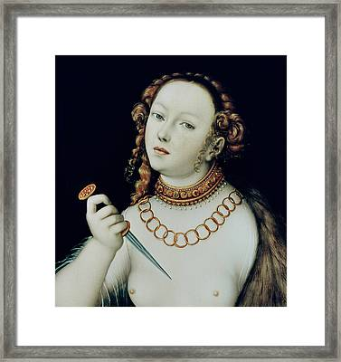 The Suicide Of Lucretia Framed Print