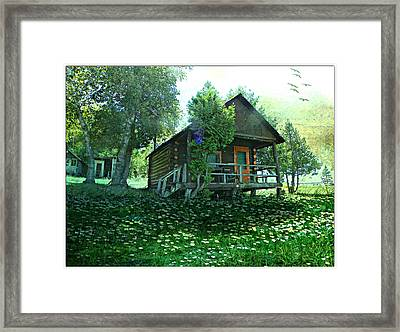 The Summer Cabin Framed Print by Dianne  Lacourciere