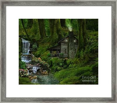 The Summer Cottage Framed Print by Lynn Jackson