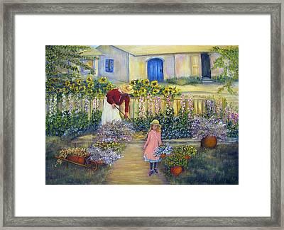 The Summer Garden Framed Print by Loretta Luglio