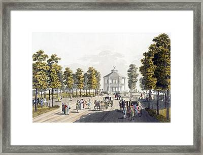 The Summerhouse At Prater, Vienna, 1792 Framed Print