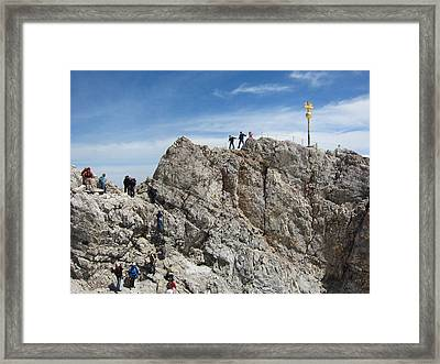 Framed Print featuring the photograph The  Summit - 1 by Pema Hou