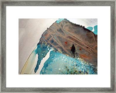 Framed Print featuring the painting The Summit by Ed  Heaton