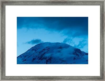 The Summit Mt Rainier Framed Print