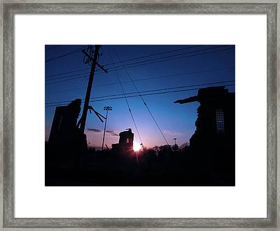 The Sun Also Rises On Ruins Framed Print