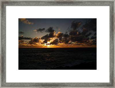 The Sun And Ocean Framed Print by Jeff Swan