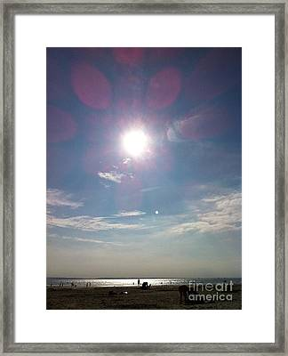The Sun And The Moon - Witterings Sussex England Framed Print