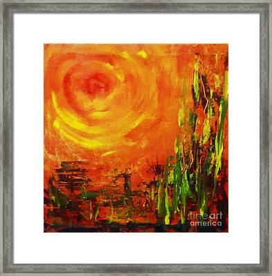 The Sun At The End Of The World Framed Print