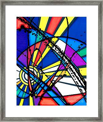 The Sun Card Framed Print