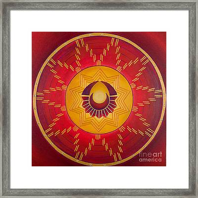 The Sun Celebrates The Moon Framed Print by Charlotte Backman