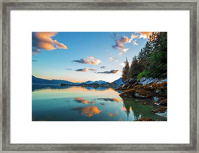 The Sun Colors The Clouds Pink Framed Print