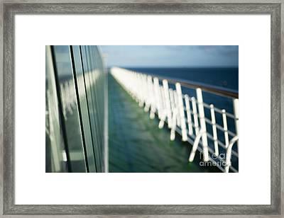 The Sun Deck Framed Print by Anne Gilbert