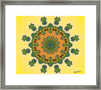 The Sun Dial Framed Print by Bobby Hammerstone