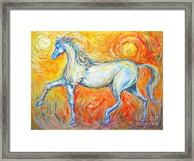 The Sun Horse Framed Print by Frederick  Luff