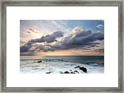 The Sun Looking Down Framed Print by Jon Glaser