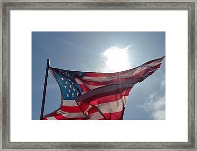 The Sun Of America 2 Framed Print by Sheldon Blackwell