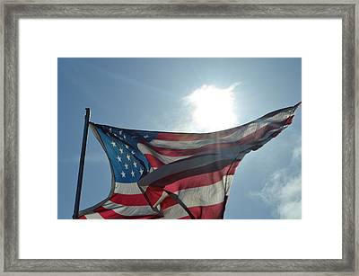 The Sun Of America Framed Print by Sheldon Blackwell