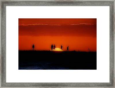 The Sun Worshipers Framed Print